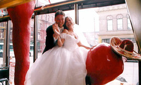 My wedding day at the famous La Perla Restaurant in Milwaukee